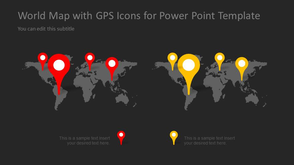 Worldmap map pointers for powerpoint slidemodel gumiabroncs Image collections
