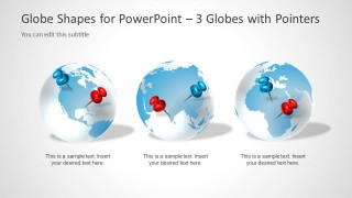 3 Globe Earth Clipart Design for PowerPoint