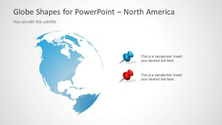 North America Clipart PowerPoint Slide Design