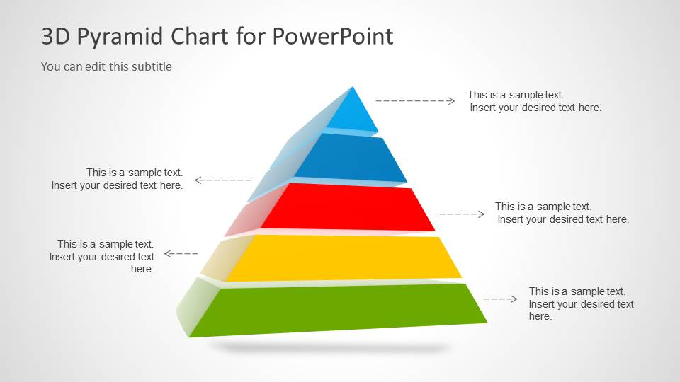 3D Pyramid Template For Powerpoint With 5 Segments - Slidemodel