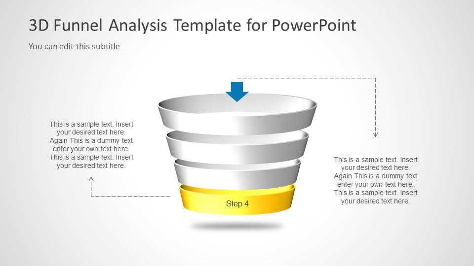 Multi Step 3D Funnel Analysis Diagram - Step 4