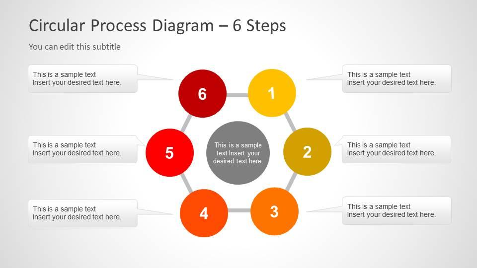 creative circular process diagram for powerpoint