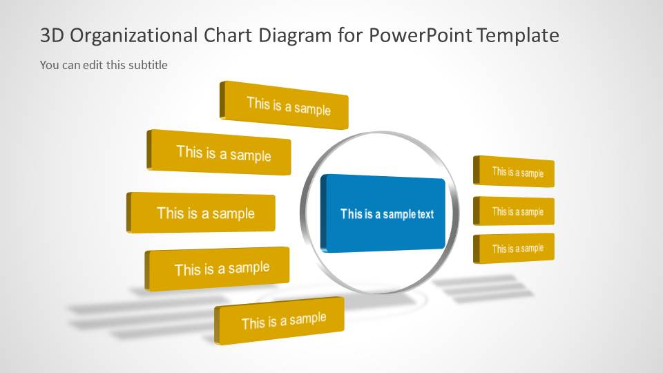 3D Organizational Chart for PowerPoint - SlideModel