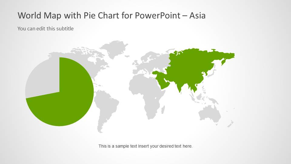 World map template with pie charts for powerpoint slidemodel world map template with pie charts for powerpoint gumiabroncs Gallery