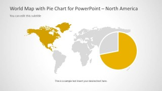 World map template with pie charts for powerpoint slidemodel world map template with pie charts for powerpoint is a customizable map template for powerpoint which is suitable for a wide range of presentation topics gumiabroncs Gallery