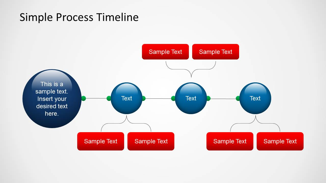 Simple Process Timeline Template For Powerpoint Slidemodel