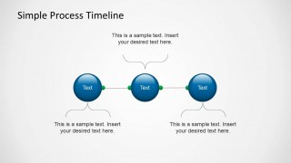 use the simple process timeline template for powerpoint to describe process flows and their milestones the powerpoint template contains a simple timeline