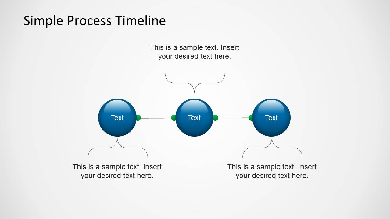 Simple Process Timeline Template for PowerPoint - SlideModel
