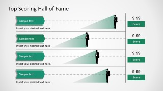 PowerPoint Design of a High Scores Table Flat Design