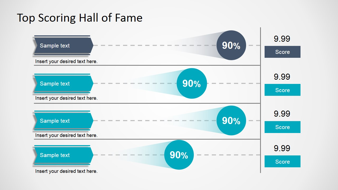 Top scoring hall of fame infographic slidemodel for Scoreboard template for powerpoint