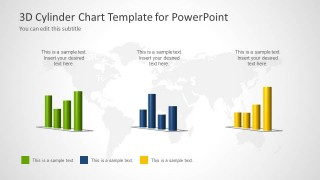 3d cylinder chart template for powerpoint slidemodel
