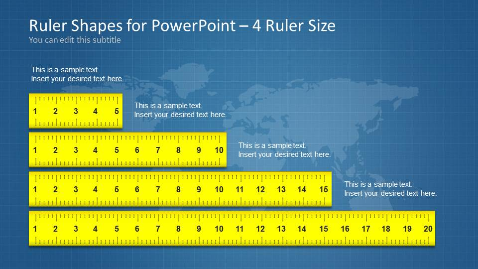 ruler shapes for powerpoint slidemodel