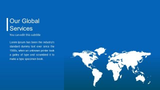 Blue Background Company Profile PowerPoint