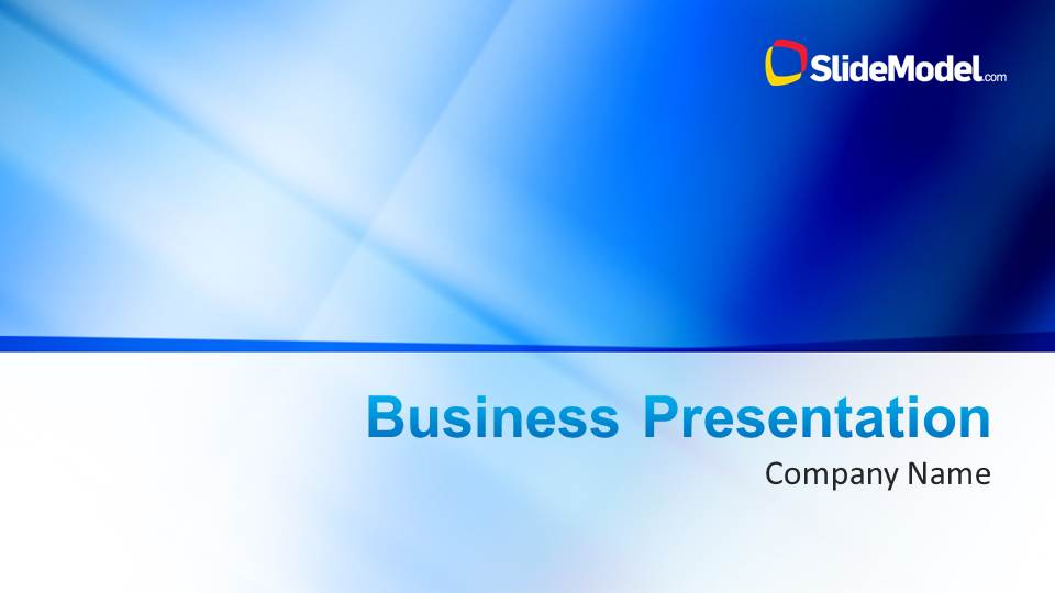 blue company profile business powerpoint template - slidemodel, Blue Presentation Template, Presentation templates