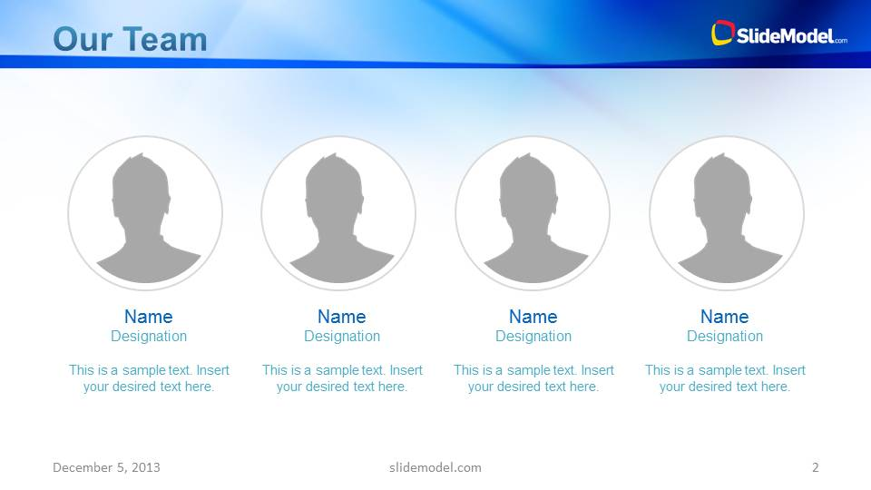 Blue company profile business powerpoint template slidemodel company profile slide design for team presentation accmission Choice Image