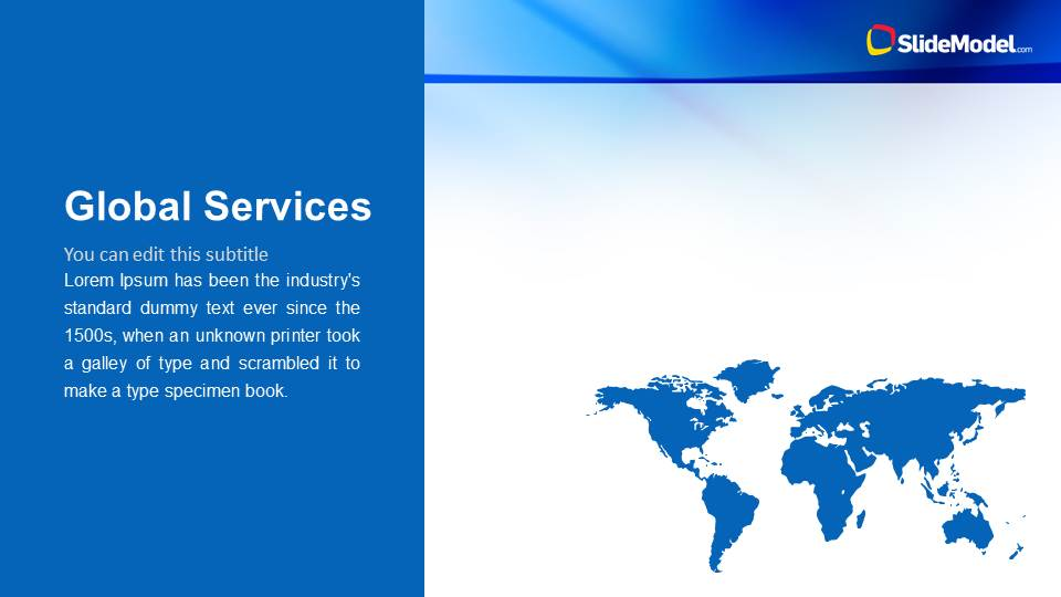 Global Services Slide Design with World Map