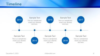 Corporate Timeline Slide Design for PowerPoint