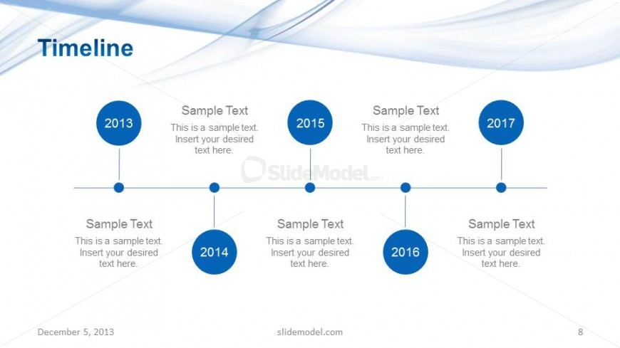Light Company Project Timeline Slide Design - Slidemodel
