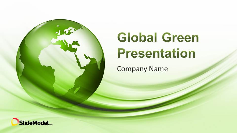 Global green powerpoint template slidemodel global green powerpoint template green company profile accmission
