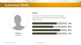 Company Profile Skills Slide Design