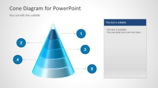 Glossy 3D Cone Diagram for PowerPoint