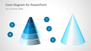 2 3D Cone Diagrams for PowerPoint