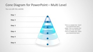 3D Cone Diagrams For PowerPoint Is A Presentation Template Containing Cones And Shapes Ready To Be Used In Presentations