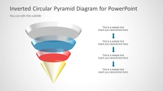 Inverted Multi-Layer Circular Cone Slide Design for PowerPoint