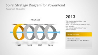 Spiral Strategy Diagram for PowerPoint 2013 Year