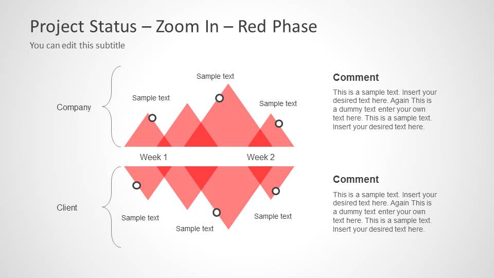 Project Status Timeline Design Zoom In - Red Phase