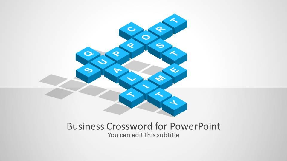 Business Crossword Template For Powerpoint Slidemodel