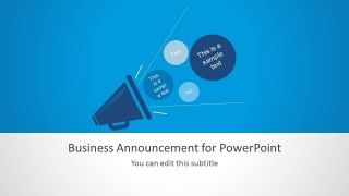 Business Announcement PPT Slide Design