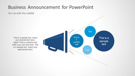 Business Announcement PPT Template