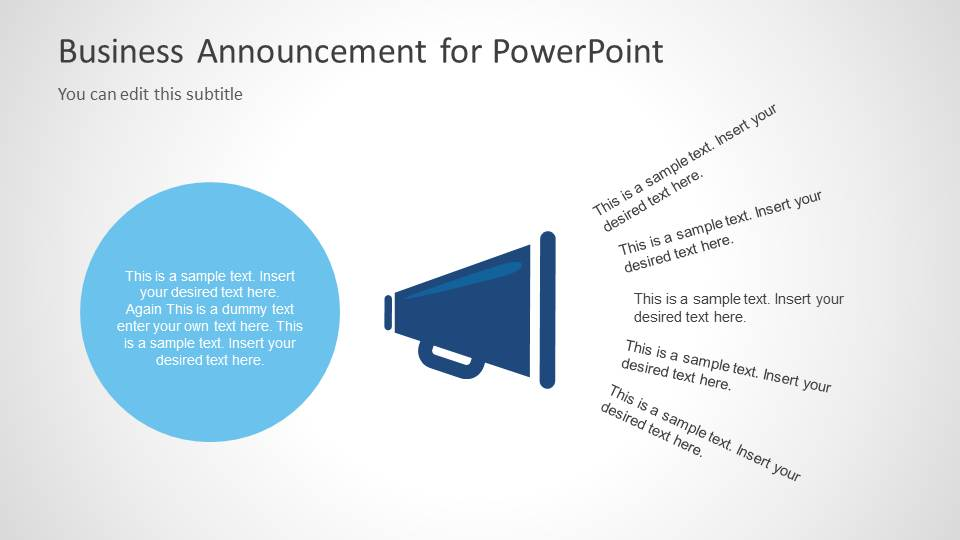 Business announcement template for powerpoint slidemodel wajeb Image collections