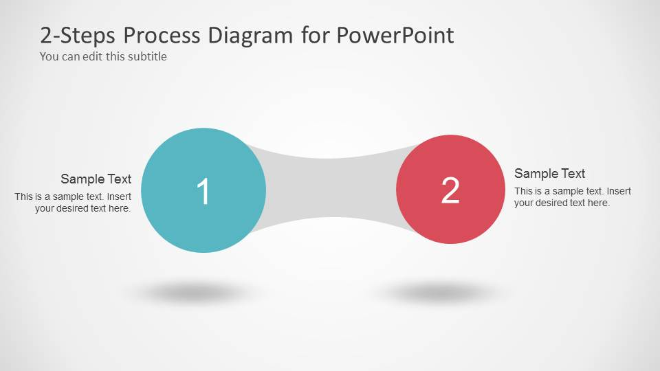 Awesome 2 Steps Process Diagram For Powerpoint