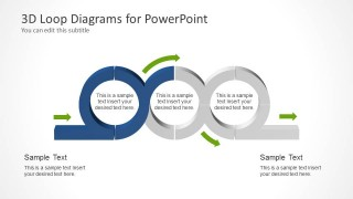 PowerPoint Shapes of 3 Chained Loops
