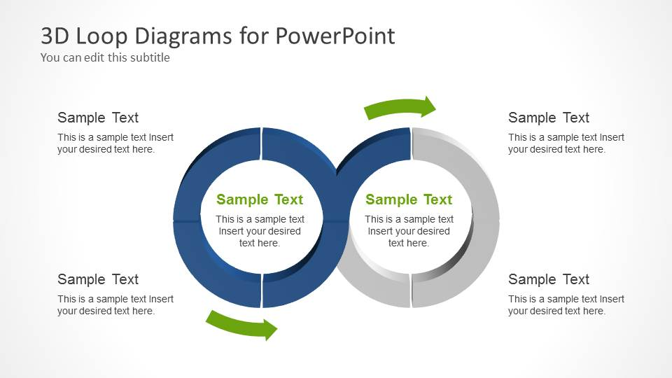 PowerPoint 3D Diagram Joined Loops