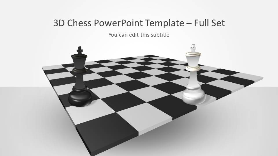 setting up a powerpoint template - 3d chess powerpoint template with full set slidemodel