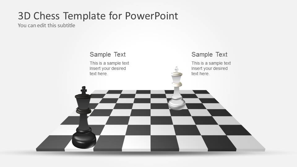 3D Chess PowerPoint Template with Full Set - SlideModel