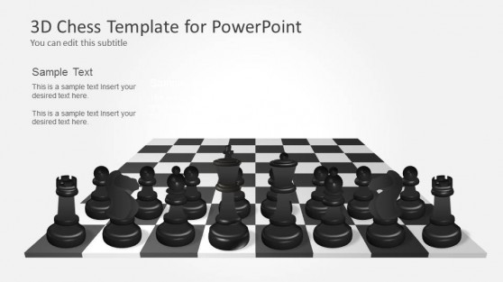 Black Chess Pieces Template for PowerPoint