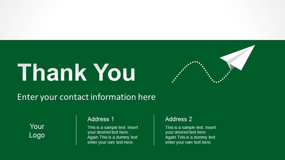 simple thank you slide designs for powerpoint slidemodel
