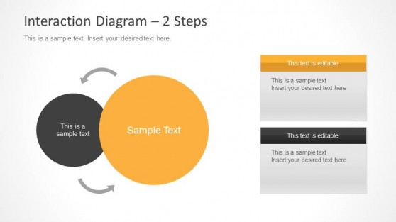 2 Step Interaction Diagram for PowerPoint