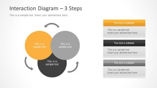 3 Step Interaction Diagram for PowerPoint