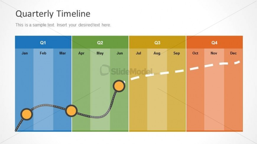 PowerPoint Time Management Chart for PowerPoint by Quarter