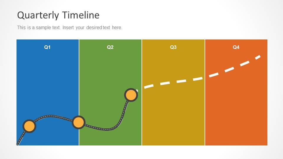 Quarterly timeline template for powerpoint slidemodel quarterly timeline template for powerpoint toneelgroepblik Image collections