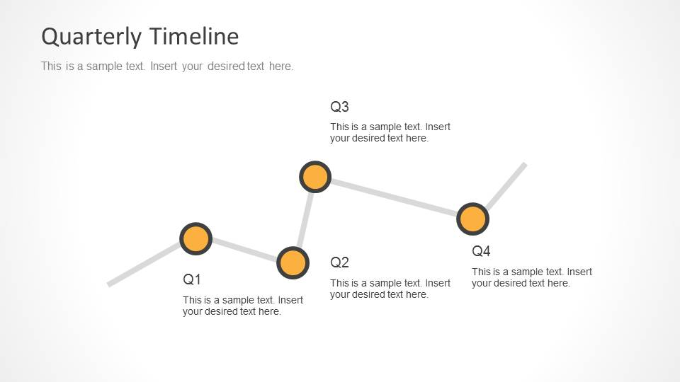 Quarterly Timeline for PowerPoint