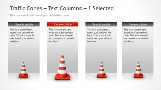 4 Vertical Text Boxes for Milestones in PowerPoint