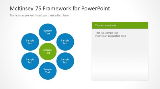 McKinsey 7S Slide Design for PowerPoint with Spoke Diagram