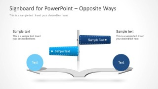 Signboard PowerPoint Template with Arrows - SlideModel
