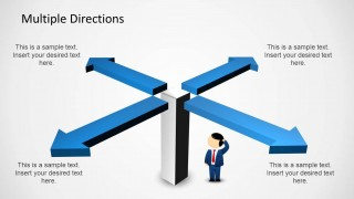 multiple directions powerpoint diagram with arrows - slidemodel, Presentation templates